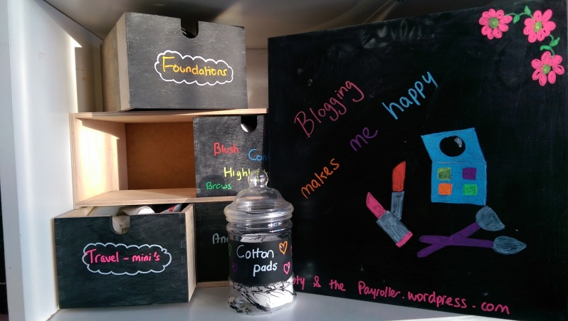 diy chalkboard beauty and the payroller