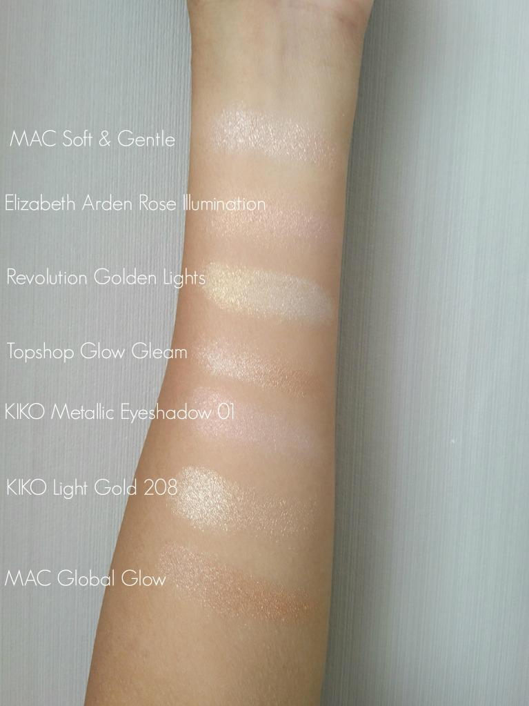 Highlighter collection swatches Beauty and the Payroller