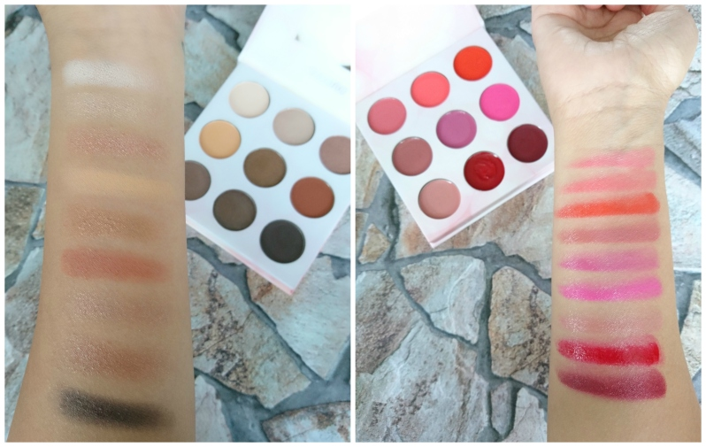 Shaaanxo Lip and Eye-Shadow Palette Swatches