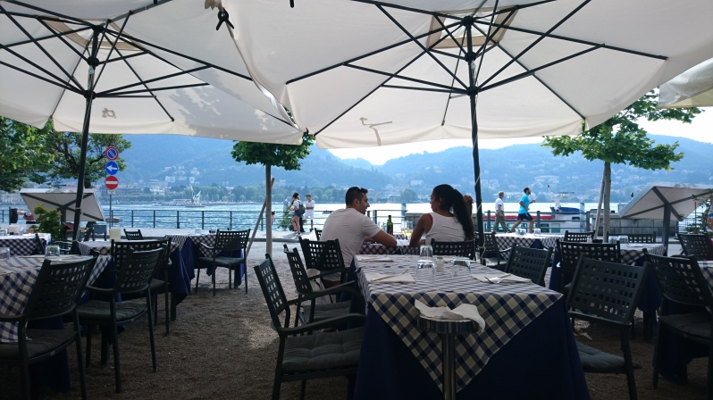Lunch with a view of Lake Como